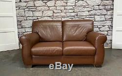 John Lewis Chesterfield Ranch Brown/Tan Distressed Style Leather Sofa WE DELIVER
