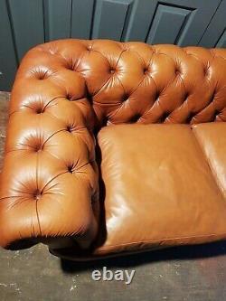 John Lewis Tetrad Chatsworth 3 Seater Tan Leather Sofa