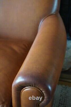 Laura Ashley Burlington leather armchair VINTAGE TAN LEATHER