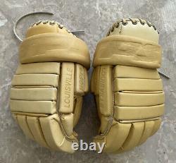 Louisville TPS Vintage Tan Leather HG Pro Hockey Gloves