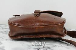 MULBERRY Vintage Rich Tan Brown Congo Leather Saddle Satchel Shoulder Bag