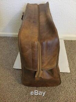 Mega Rare Vintage Peter Black Adidas Bag 70s / 80s Tan Leather Sports Holder
