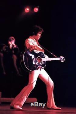 Megarare Men Vintage North Beach Leather Tan Braided Pants 33 M Elvis Jeans Gay