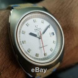 Men's Omega Seamaster 166.087 Date Automatic 39mm c. 1970 Swiss Vintage LV352TAN