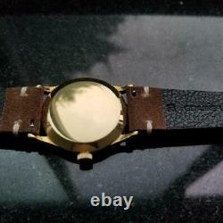 Mens Vacheron Constantin Geneve 34mm 18k Gold Hand-Wind c. 1950s Vintage LV959TAN