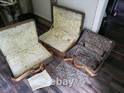 Mint! Vintage Hartmann Luggage 3 Piece Set Tan And Brown Tweed/leatherestate