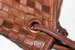 NICE Vintage BOTTEGA VENETA INTRECCIATO Tan XL HOBO SHOULDER BAG HANDBAG ITALY