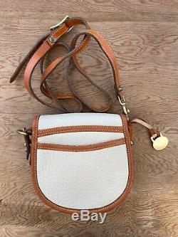 NWOT Vintage Dooney and Bourke Big Duck Shoulder Bag Bone Ivory & Tan NEW Unused