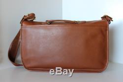 Near EXCELLENT Vintage COACH Tan LARGE XL Messenger Carrier Bag Travel USA 9800