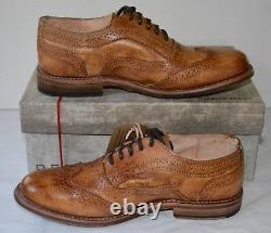 New Bed Stu Lita Oxford Wingtips Tan/Brown Driftwood Vintage Leather Cobbler