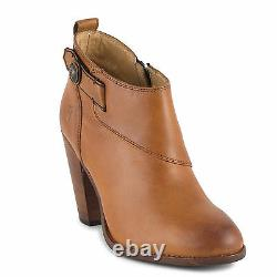 New in Box Womens Frye Jenny Button Short Tan Vintage Leather Boots Size 9.5