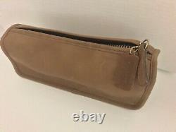 Nwot Vintage Coach Bonnie Cashin Tan Leather Toiletry Cosmetic Makeup Bag Purse