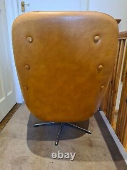 Original Tanned Retro Swivel Egg chair (Vintage 1960s/1970s) MCM