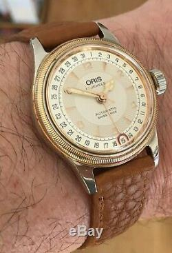 Oris Big Crown Pointer Date Automatic Watch Reference Number7400 GP bezel
