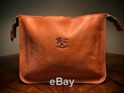 RARE Il Bisonte Cream Tan Soft Leather Vintage Clutch With Tags (Excellent Cond)