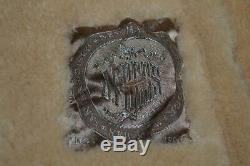 RARE Vintage J. Press Full Length Tan Leather Shearling Coat 38 40 R or Medium