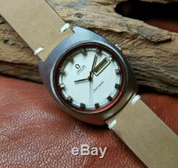 Rare Vintage Huge Omega Seamaster Cream Dial Daydate Cal752 Auto Man's Watch