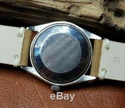 Rare Vintage Rolex Oyster Perpetual Air-king Silver Dial Auto Man's Watch