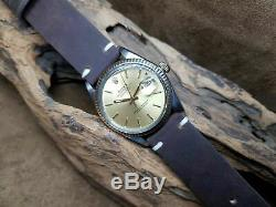 Rare Vintage Rolex Oyster Perpetual Datejust 3035 Champange Dial Man's Watch