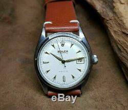 Rare Vintage Rolex Oysterdate Precision 6094 Honeycomb Dial Manual Wind Watch