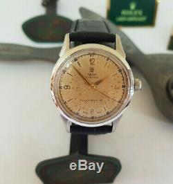 Rare Vintage Rolex Tudor Oyster Devon Silver Dial Manual Wind Man's Watch