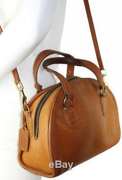 Rare Vtg COACH Bonnie Cashin Chadwick Bowler Bag Satchel 9928 British Tan
