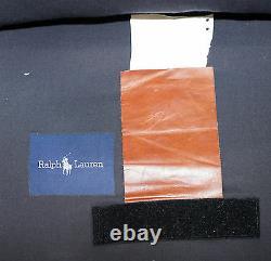 Rrp £9315 Ralph Lauren Errol Tufted Club Armchair Aged Tan Brown Vintage Leather