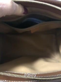 SALE! Large Brown Vintage logo Celine Monogram canvas/leather bag
