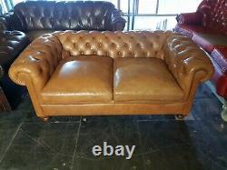 Stunning Laura Ashley 2 Seater Sofa Tan Aniline Leather