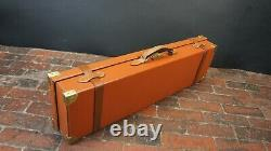 Stunning Vintage Tan Leather Double Gun Case key
