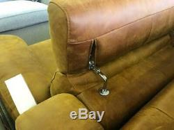 TENERY Italian Leather 3+2 Vintage Tan Leather Sofa Electric Recliner RRP£4000