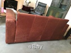 THE VINTAGE TANNING Co. CHESTNUT BROWN ANILINE LEATHER 2-3 SEATER SOFA BY HALO