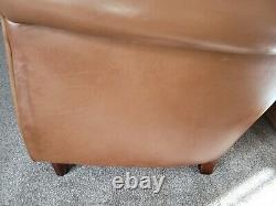 Tetrad'wessex' Tan/brown Leather Club Chair Vintage Style Armchair