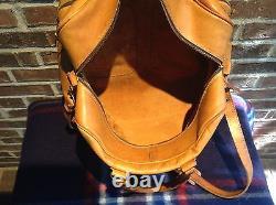 VINTAGE 1970's BRITISH TAN RUGGED BASEBALL GLOVE LEATHER DUFFLE GYM BAG R$898