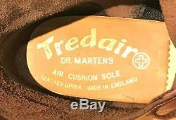 VINTAGE 1980s DR MARTENS OXBLOOD TAN 1460 SIZE 7 BOOTS ENGLAND DOCs DMs TREDAIR