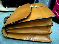 VTG Boyt tan American Belting Leather Lawyer Doctor Briefcase