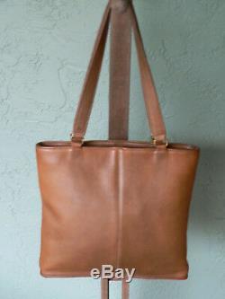VTG COACH Kisslock Bag NYC British Tan SKINNY TOTE Bonnie Cashin #9545 CLEAN