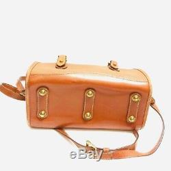 VTG Dooney And Bourke All Weather Leather S Classic Satchel British Tan Handbag