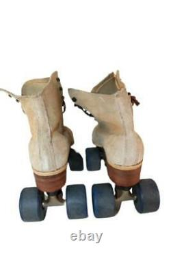 VTG Tan Suede Roller Skates Riedell Vintage 130L Sz 8 A Road Skates