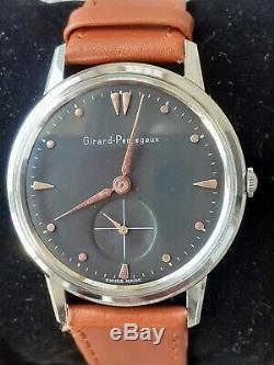 Vintage 17 Jewel Girard Perregaux Hand Wind Watch Stunning