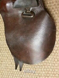 Vintage/Antique Petite Tan Leather Pony Pad Saddle 14
