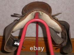 Vintage/Antique Tan Leather Pony Pad Saddle 14/15