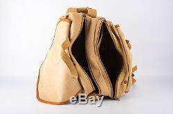 Vintage Billingham Pro SLR Camera Shoulder Bag Tan Leather & Canvas V15