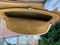 Vintage Bonnie Cashin Tan Coach Leather Big Mouth Kisslock Shoulder Bag (MINT)