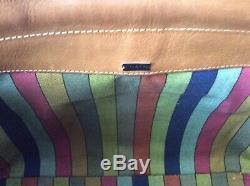 Vintage Coach Bonnie Cashin British Tan Caramel Leather Kisslock Bag Purse Tote