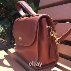 Vintage Coach Court Bag British Tan