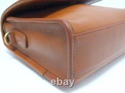 Vintage Coach Court Bag Crossbody/Shldr British Tan GTLeather #9870 Made in USA