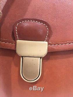 Vintage Coach Jackson Bucket CrossBody Bag British Tan Leather #9912 USA Rare