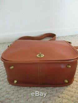 Vintage Coach New York City Shoulder Handbag British Tan 7846 RARE