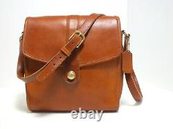 Vintage Coach Scout Shoulder/CrossBody Bag British Tan Leather #9890 Made in USA
